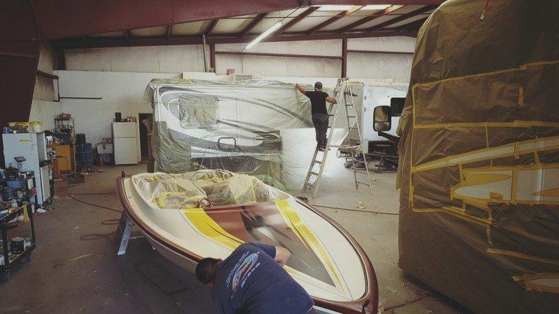 boat repair fiberglass gel coat